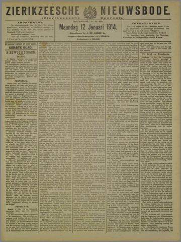 Zierikzeesche Nieuwsbode 1914-01-12