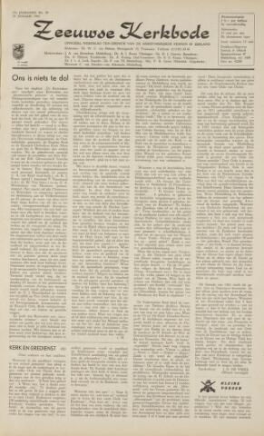Zeeuwsche kerkbode, weekblad gewijd aan de belangen der gereformeerde kerken/ Zeeuwsch kerkblad 1962-01-19