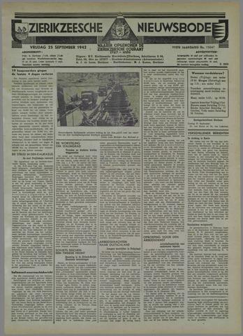Zierikzeesche Nieuwsbode 1942-09-25