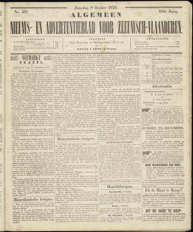 Ter Neuzensche Courant. Algemeen Nieuws- en Advertentieblad voor Zeeuwsch-Vlaanderen / Neuzensche Courant ... (idem) / (Algemeen) nieuws en advertentieblad voor Zeeuwsch-Vlaanderen 1870-10-08