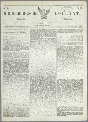 Middelburgsche Courant 1862-01-07