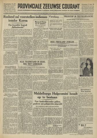 Provinciale Zeeuwse Courant 1950-09-27