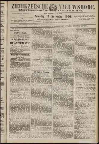 Zierikzeesche Nieuwsbode 1900-11-17