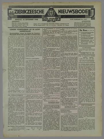 Zierikzeesche Nieuwsbode 1940-09-10