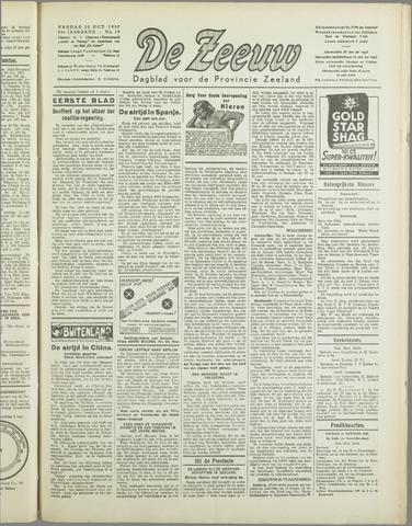 De Zeeuw. Christelijk-historisch nieuwsblad voor Zeeland 1937-10-22