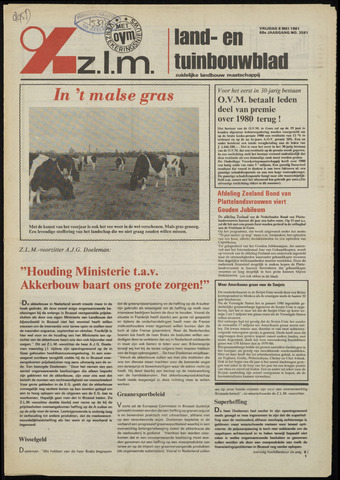 Zeeuwsch landbouwblad ... ZLM land- en tuinbouwblad 1981-05-08