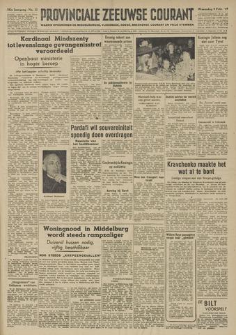Provinciale Zeeuwse Courant 1949-02-09