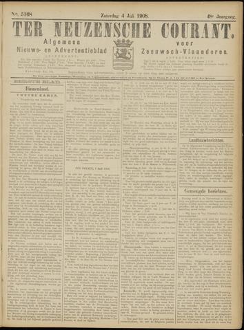 Ter Neuzensche Courant. Algemeen Nieuws- en Advertentieblad voor Zeeuwsch-Vlaanderen / Neuzensche Courant ... (idem) / (Algemeen) nieuws en advertentieblad voor Zeeuwsch-Vlaanderen 1908-07-04