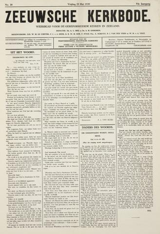Zeeuwsche kerkbode, weekblad gewijd aan de belangen der gereformeerde kerken/ Zeeuwsch kerkblad 1939-05-19