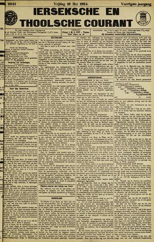 Ierseksche en Thoolsche Courant 1924-05-16