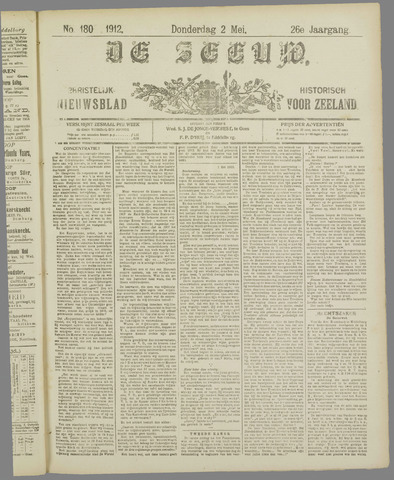 De Zeeuw. Christelijk-historisch nieuwsblad voor Zeeland 1912-05-02