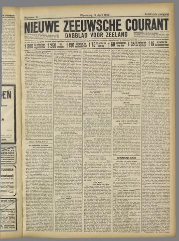 Nieuwe Zeeuwsche Courant 1922-04-19