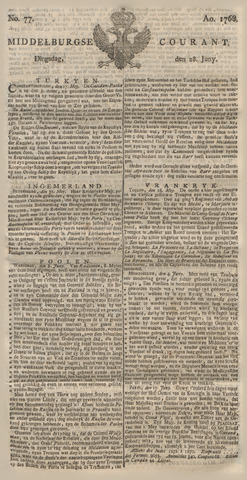 Middelburgsche Courant 1768-06-28