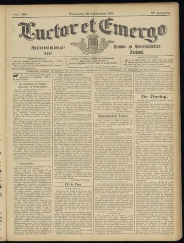 Luctor et Emergo. Antirevolutionair nieuws- en advertentieblad voor Zeeland / Zeeuwsch-Vlaanderen. Orgaan ter verspreiding van de christelijke beginselen in Zeeuwsch-Vlaanderen 1914-09-30