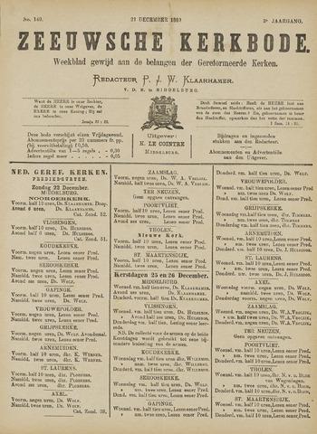 Zeeuwsche kerkbode, weekblad gewijd aan de belangen der gereformeerde kerken/ Zeeuwsch kerkblad 1889-12-21