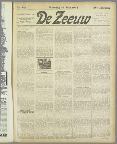 De Zeeuw. Christelijk-historisch nieuwsblad voor Zeeland 1924-06-23