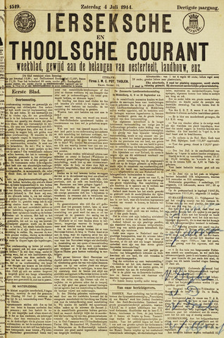 Ierseksche en Thoolsche Courant 1914-07-04