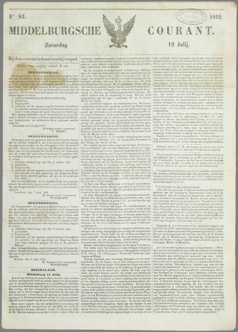 Middelburgsche Courant 1862-07-12