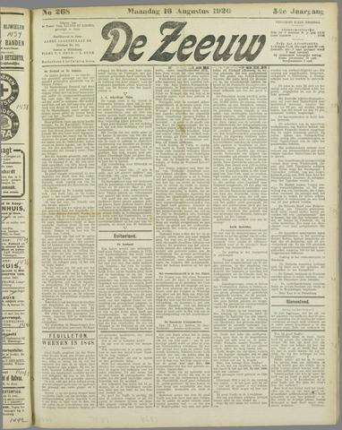 De Zeeuw. Christelijk-historisch nieuwsblad voor Zeeland 1920-08-16