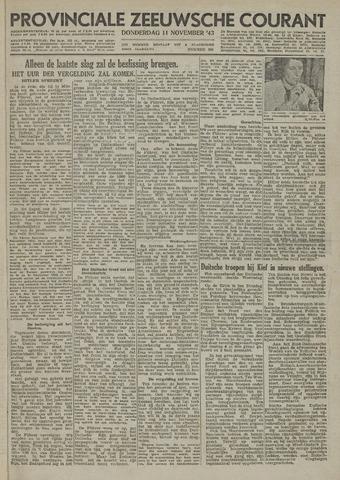 Provinciale Zeeuwse Courant 1943-11-11