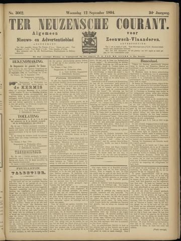Ter Neuzensche Courant. Algemeen Nieuws- en Advertentieblad voor Zeeuwsch-Vlaanderen / Neuzensche Courant ... (idem) / (Algemeen) nieuws en advertentieblad voor Zeeuwsch-Vlaanderen 1894-09-12
