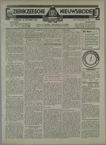 Zierikzeesche Nieuwsbode 1937-10-12