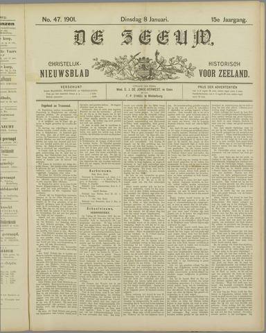 De Zeeuw. Christelijk-historisch nieuwsblad voor Zeeland 1901-01-08