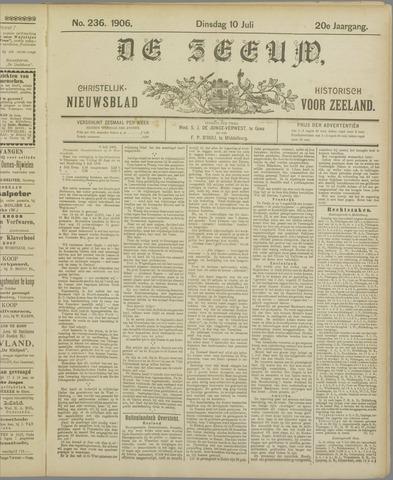 De Zeeuw. Christelijk-historisch nieuwsblad voor Zeeland 1906-07-10