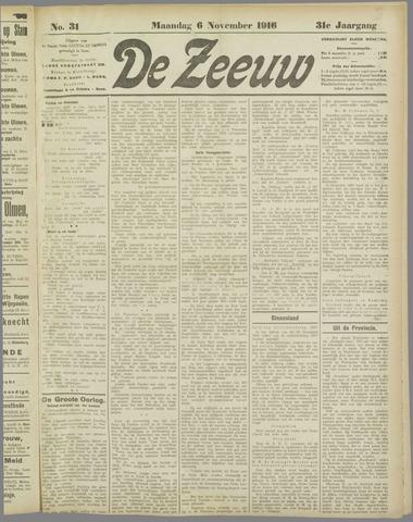 De Zeeuw. Christelijk-historisch nieuwsblad voor Zeeland 1916-11-06