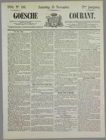 Goessche Courant 1884-11-15