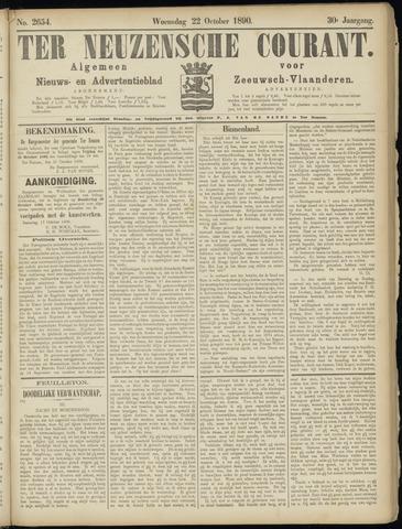 Ter Neuzensche Courant. Algemeen Nieuws- en Advertentieblad voor Zeeuwsch-Vlaanderen / Neuzensche Courant ... (idem) / (Algemeen) nieuws en advertentieblad voor Zeeuwsch-Vlaanderen 1890-10-22