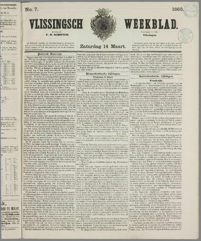 Vlissings Weekblad 1863-03-14
