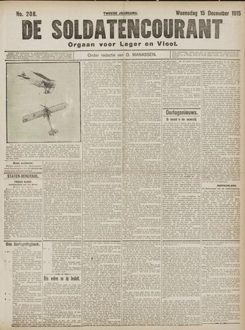 De Soldatencourant. Orgaan voor Leger en Vloot 1915-12-15