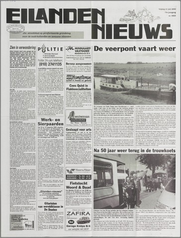 Eilanden-nieuws. Christelijk streekblad op gereformeerde grondslag 2000-07-21