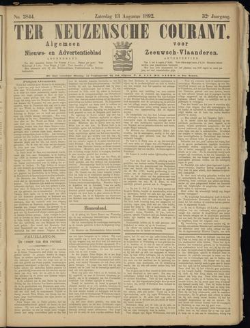 Ter Neuzensche Courant. Algemeen Nieuws- en Advertentieblad voor Zeeuwsch-Vlaanderen / Neuzensche Courant ... (idem) / (Algemeen) nieuws en advertentieblad voor Zeeuwsch-Vlaanderen 1892-08-13