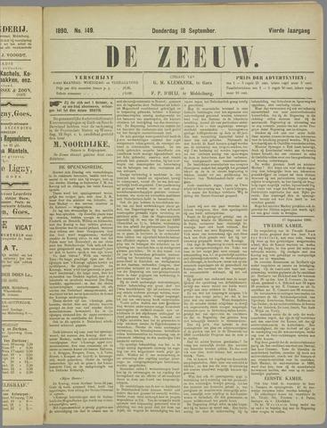 De Zeeuw. Christelijk-historisch nieuwsblad voor Zeeland 1890-09-18