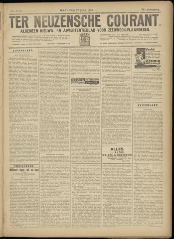 Ter Neuzensche Courant. Algemeen Nieuws- en Advertentieblad voor Zeeuwsch-Vlaanderen / Neuzensche Courant ... (idem) / (Algemeen) nieuws en advertentieblad voor Zeeuwsch-Vlaanderen 1931-07-27