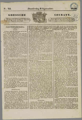 Goessche Courant 1849-09-06