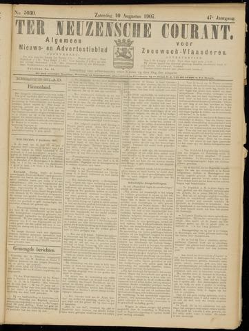 Ter Neuzensche Courant. Algemeen Nieuws- en Advertentieblad voor Zeeuwsch-Vlaanderen / Neuzensche Courant ... (idem) / (Algemeen) nieuws en advertentieblad voor Zeeuwsch-Vlaanderen 1907-08-10