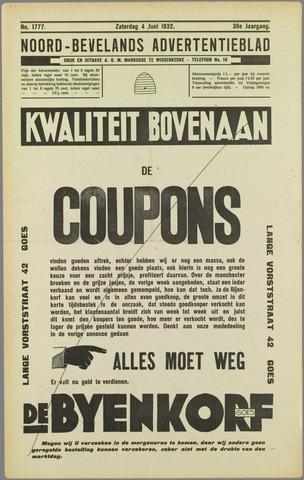 Noord-Bevelands Nieuws- en advertentieblad 1932-06-04