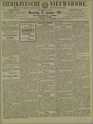 Zierikzeesche Nieuwsbode 1911-01-16