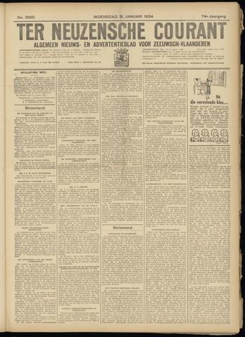 Ter Neuzensche Courant. Algemeen Nieuws- en Advertentieblad voor Zeeuwsch-Vlaanderen / Neuzensche Courant ... (idem) / (Algemeen) nieuws en advertentieblad voor Zeeuwsch-Vlaanderen 1934-01-31