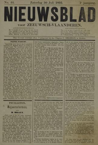 Nieuwsblad voor Zeeuwsch-Vlaanderen 1892-07-30