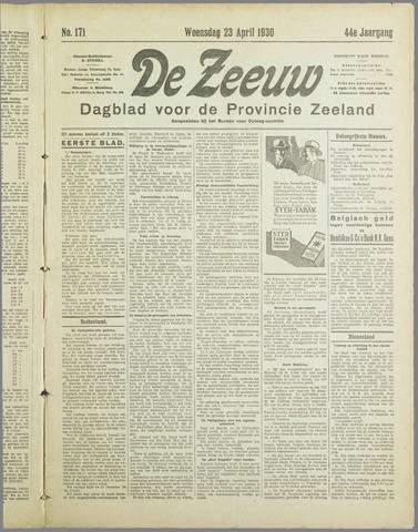 De Zeeuw. Christelijk-historisch nieuwsblad voor Zeeland 1930-04-23