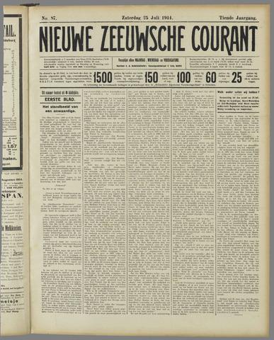 Nieuwe Zeeuwsche Courant 1914-07-25