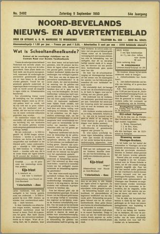 Noord-Bevelands Nieuws- en advertentieblad 1950-09-09