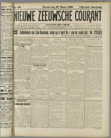 Nieuwe Zeeuwsche Courant 1919-03-27