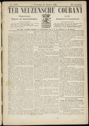 Ter Neuzensche Courant. Algemeen Nieuws- en Advertentieblad voor Zeeuwsch-Vlaanderen / Neuzensche Courant ... (idem) / (Algemeen) nieuws en advertentieblad voor Zeeuwsch-Vlaanderen 1880-01-21