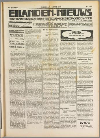 Eilanden-nieuws. Christelijk streekblad op gereformeerde grondslag 1939-04-08