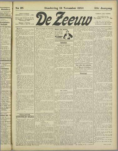 De Zeeuw. Christelijk-historisch nieuwsblad voor Zeeland 1924-11-13